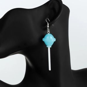 Blue lollipop earrings NEW